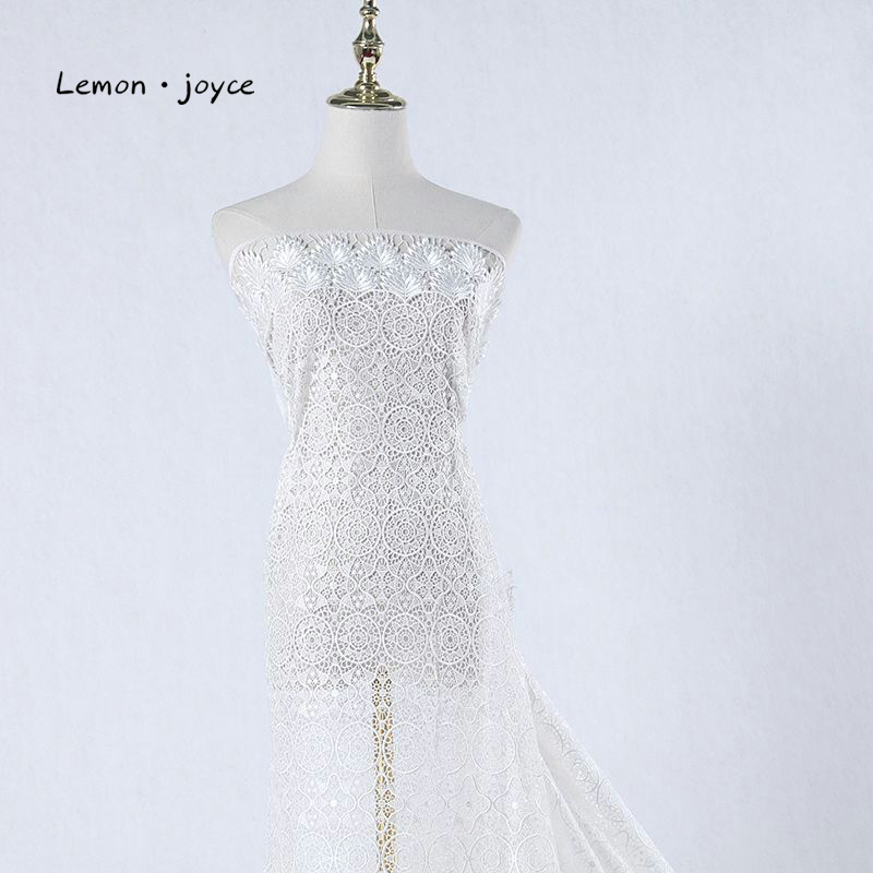 Lace Fabric Nigerian French African For Brown Color Women Dress Tulle Embroidered High-Quality