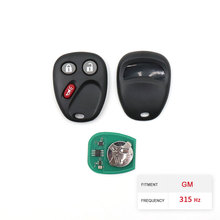 Dzanken 3 Buttons Remote Car Key 315MHz for GM 2003 2004 2005 2006 2007 Cadillac CTS& Transponder Chip & Uncut Blade