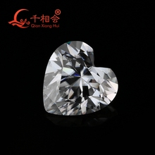 DF GH IJ  color white heart shape diamond cut Sic material moissanites loose gem stone qianxianghui militech sic