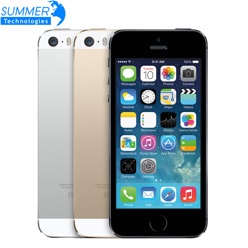 Original Unlocked iPhone 5S Cell Phones iOS 4.0 IPS HD Dual Core A7 GPS Fingerprint 8MP 16GB 32GB 64GB Mobile Phone