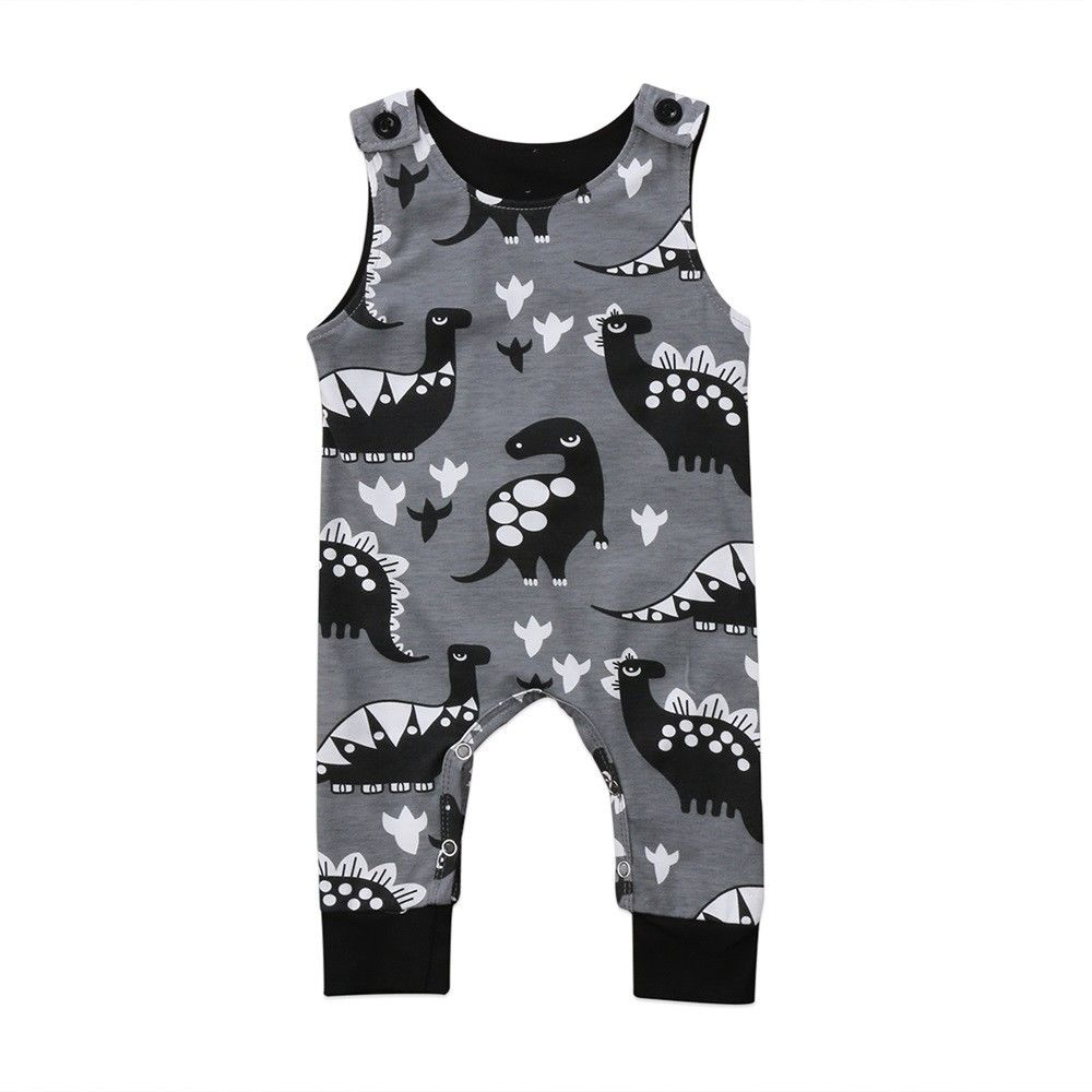 Cute Retro Style Wrestling Silhouette Crawler Short Sleeve Cotton Rompers for Baby Girls Boys