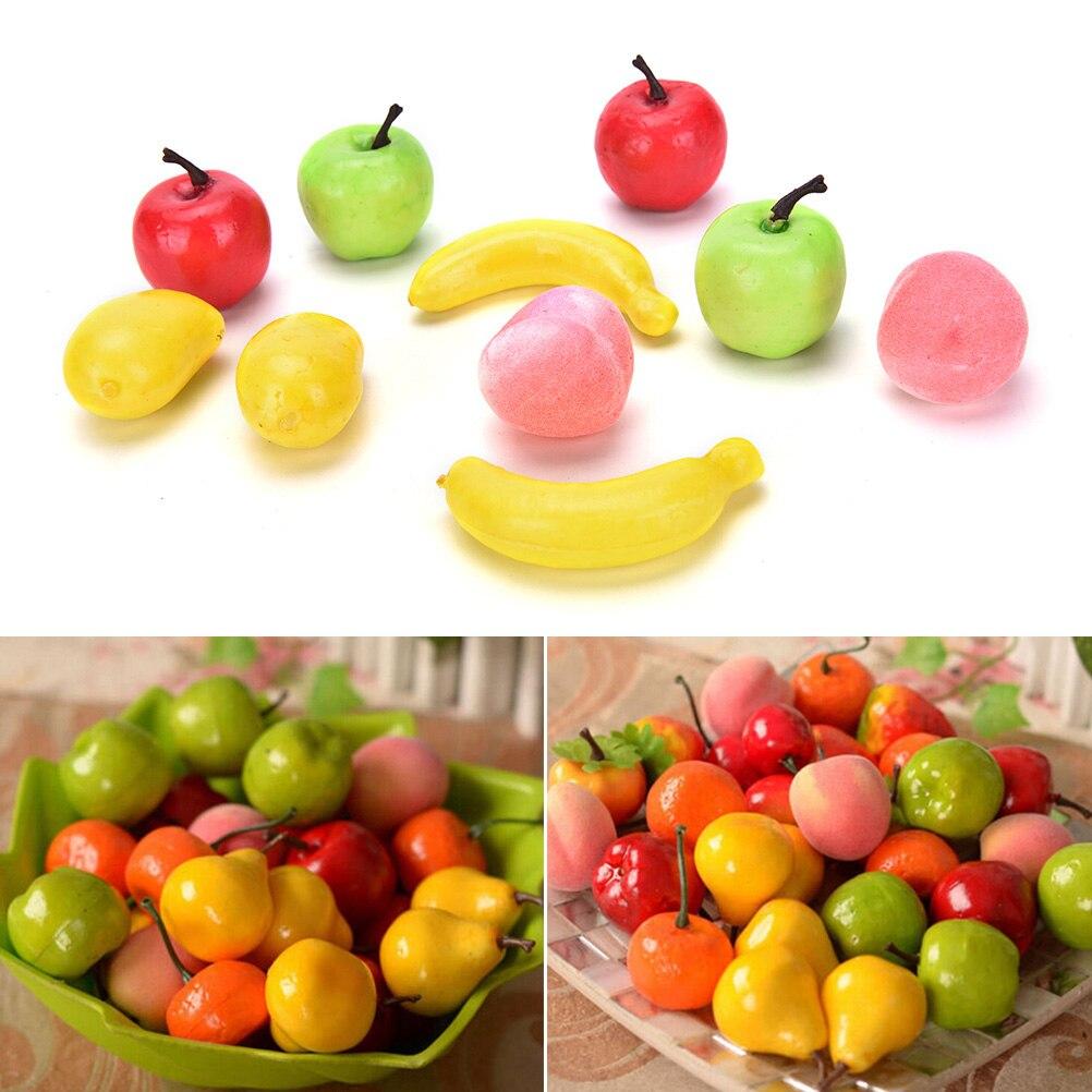 Playhouse-Toys Fake-Bananas 10pcs Pineapple Fruit Garden Artificial Kitchen Lifelike
