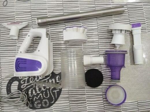 Портативный пылесос Puppyoo WP526-C (600 Вт, 3 насадки)[Официальная гарантия 1 год, Доставка от 2 дней]