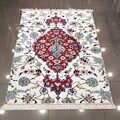 Autre rouge bleu traditionnel turc ethnique Kilim Design 3d impression microfibre anti-dérapant dos lavable décoratif Kilim zone tapis
