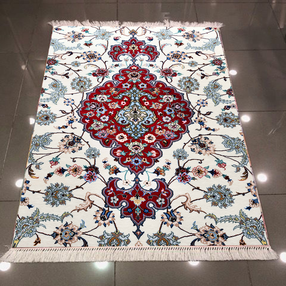 Else Red Blue Tradional Turkish Ethnic Kilim Design 3d Print Microfiber Anti Slip Back Washable Decorative Kilim Area Rug Carpet