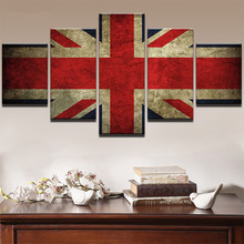 Modern Canvas HD Printed Poster Wall Art Modular Pictures 5 Pieces RInternational Flag Paintings Home Decorative Framework