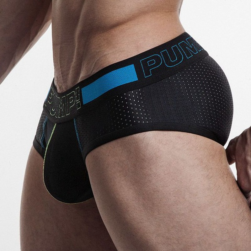 Brand Penis Sexy Underwear Briefs Men Mesh Sexy Underpants Cueca Masculina U Pouch Cotton Male Panties Mens briefs Gay Underwear ...