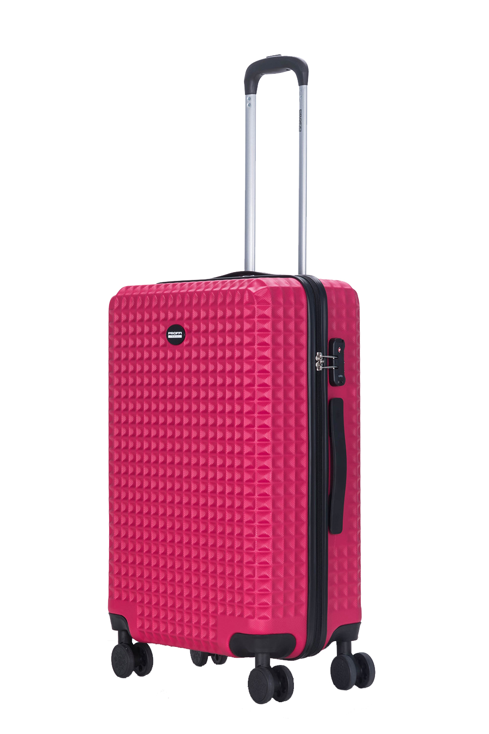 Plastic suitcase PROFFI TRAVEL Tour Quattro Smart PH9692, with built-in weighs and USB, pink, M portable digital usb microscope in built white light 8pcs led magnifier