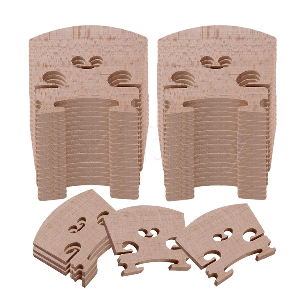 Yibuy Burlywood Maple Burlywood Violin Bridge For 4/4 Full Size Pack Of 60