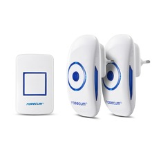 Forecum 8f Wireless Doorbell Waterproof Door Bell Kit, 1000 Feet Operating, 36 Chimes,  1 transmitter+2 Receivers