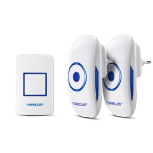 Image 1 - Forecum 8f Wireless Doorbell Waterproof Door Bell Kit, 1000 Feet Operating, 36 Chimes,  1 transmitter+2 Receivers