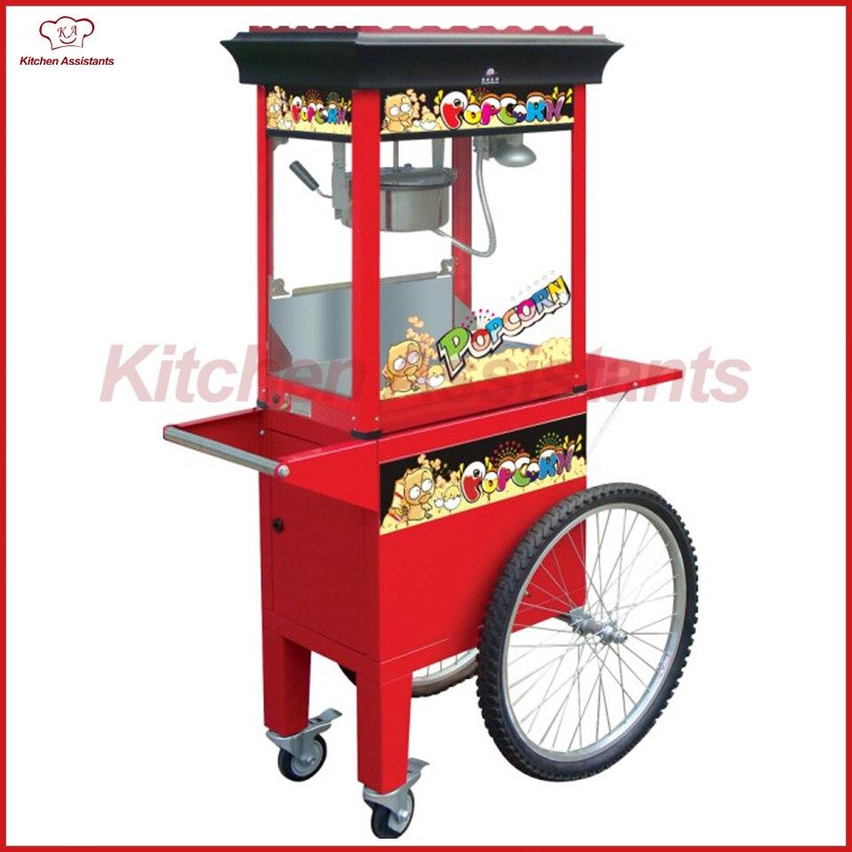 VC600 8OZ popcorn machine cart of catering equipment pop 06 economic popcorn maker commercial popcorn machine with cart