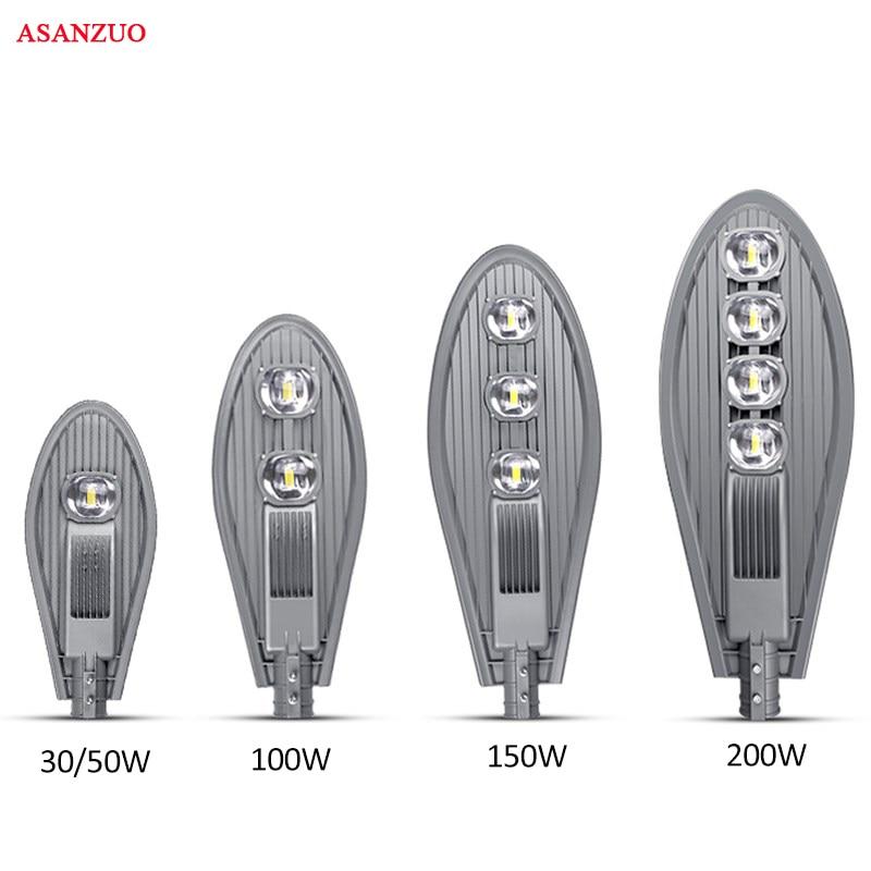 1pcs High Power 50W 100W 150W 200W Led Street Light AC85 265V Waterproof IP65 Streetlight Led Outdoor Lighting Garden Road Lamp