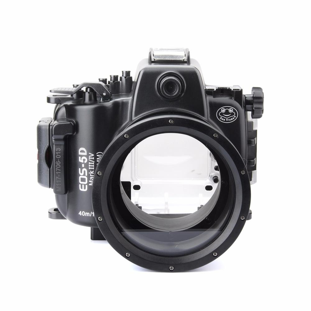 SeaFrogs 40M 130ft Diving Waterproof Housing Case for Canon 5D III IV 5D3 5D4 40m 130ft waterproof underwater diving camera housing case for sony a5000 16 50mm lens