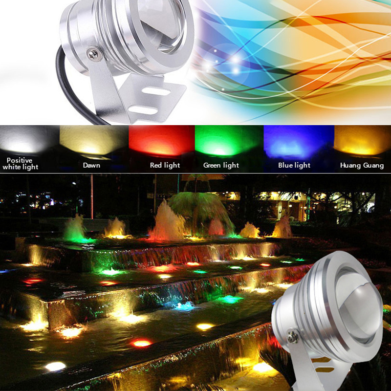 10W LED RGB Pond Fountain Pool Light AC(DC)12(V) Colorful Infrared Remote Control Underwater Light For Rockery Swimming Pool