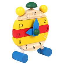 1 Set Baby Wooden Montessori Educational Color Digital Cognitive Learning DIY Clock font b Toys b