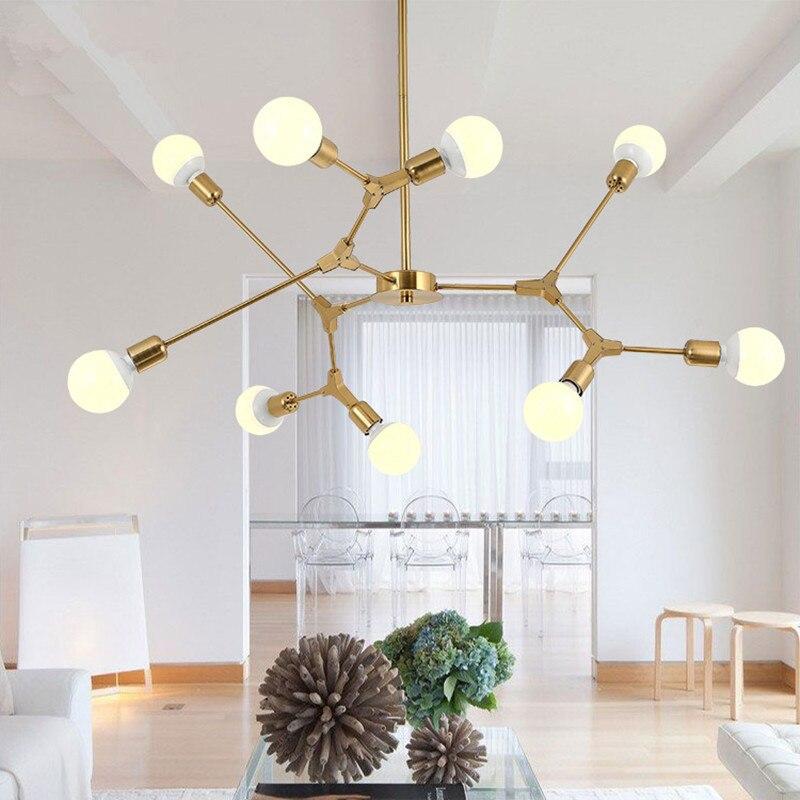 где купить Modern LED Pendant Lights Nordic Art Restaurant Pendant Lamps 3/6/9 Light Dining-room Hanglamp Lamparas Home Decoration Lighting по лучшей цене