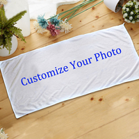Custom Your Photo Customize Bath Towel Personalized Image DIY Print Beach Towel Sport Shower Drying Towels Drop ship