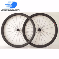 1339g Lightest 700C 45mm Deep 25mm Wide U Shaped Carbon Clincher Road Bike Wheels Bicycle Aero All Around Wheelset 20 24 Holes