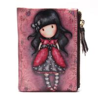 New Cartoon Printed Girl Wallets Small Zipper Leather Female Purses For Mini Cute Women Wallet Girls