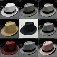 2018 Angleterre Rétro Hommes Feutrés Top Jazz de Plaid Chapeau Printemps Été Automne Bowler Hats Cap Classique Version chapeau Chapeaux
