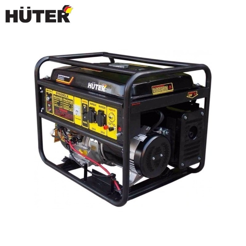 Electric generator HUTER DY6500LX electric starter Power home appliances Backup source during power outages biggest car jump starter 12v 800a pack portable starter power bank for diesel petrol car battery booster starting device buster