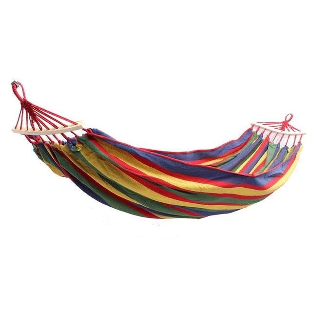 sgodde double 2 person hammock green fabric 450lb air hanging swinging outdoor camping hammock hot sale
