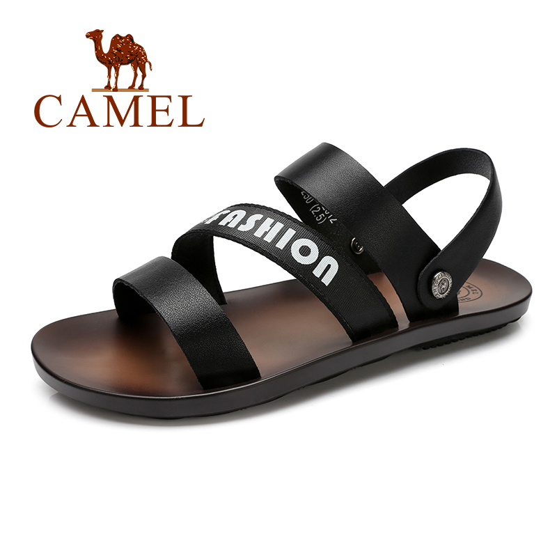 Shoes Trend Mens Flip-flops Summer Soft Pu Leather Sandals 2019 Men Slippers Feet Non-slip Thick Bottom Flat With Beach Shoes Flip Flops