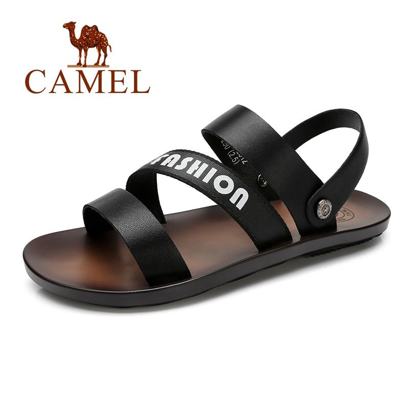 Trend Mens Flip-flops Summer Soft Pu Leather Sandals 2019 Men Slippers Feet Non-slip Thick Bottom Flat With Beach Shoes Flip Flops