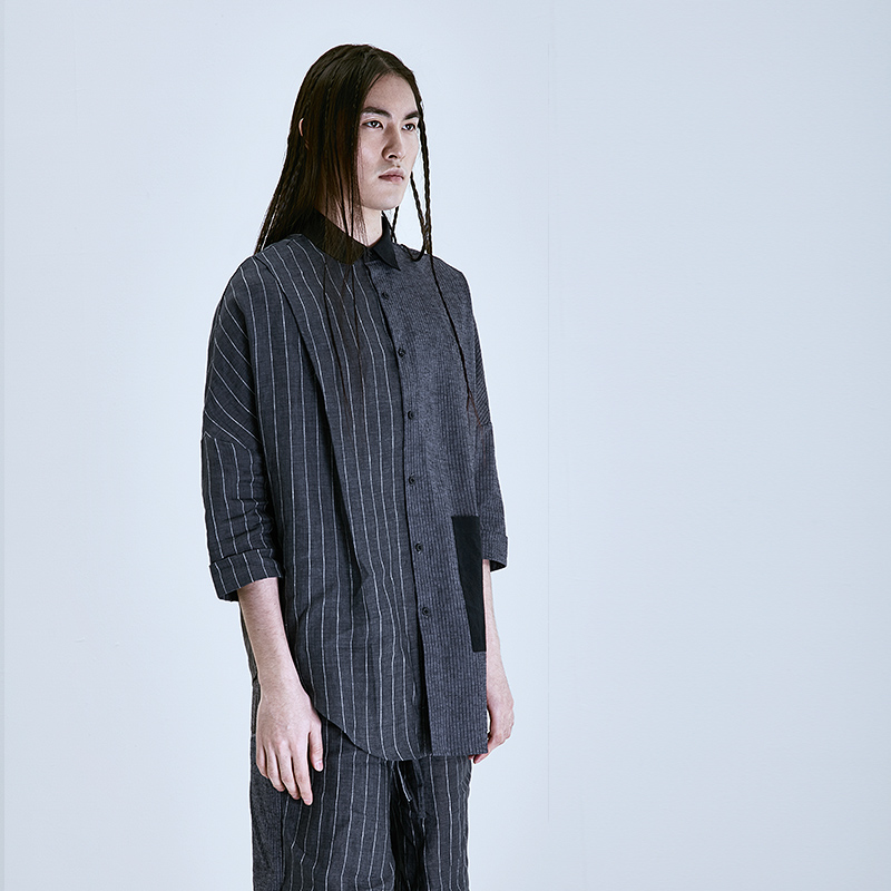 Neue Männer Lange 2 Stylist 1 Picture Design As Hemd Und 2019 Sommer Weiß Ärmeln as Haar Frühling Lose Gespleißt Fledermäuse Sleeved Schwarz dFqFw45