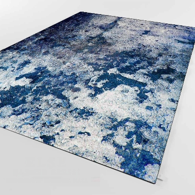 Else Blue Gray Vintage Aging Old Wall Design 3d Print Non Slip Microfiber Living Room Decorative Modern Washable Area Rug Mat