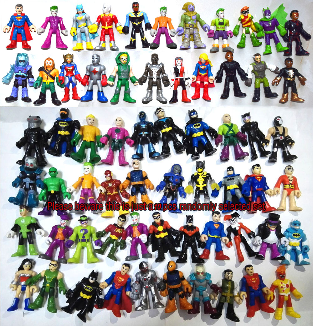 Action-Figure-Toy Imaginext Super-Hero Random-Select of DC 10-Pics Loose Lot