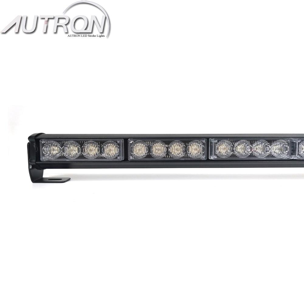 "31/"" 28W LED Traffic Adviser Directional Arrow Warning Emergency Strobe Light Bar"