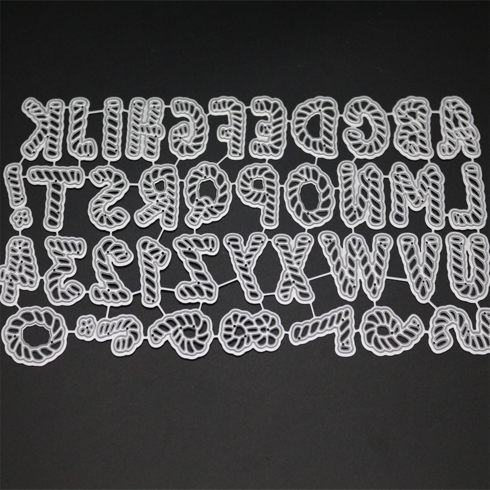 YLCD005 ALPHABET NUMBERS Metal Cutting Dies For Scrapbooking Stencils DIY Album Cards Decoration Embossing Folder Die Cuts Cut in Cutting Dies from Home Garden