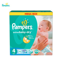 Подгузники PAMPERS Active Baby-Dry Maxi 8-14 кг Mega 132(China)