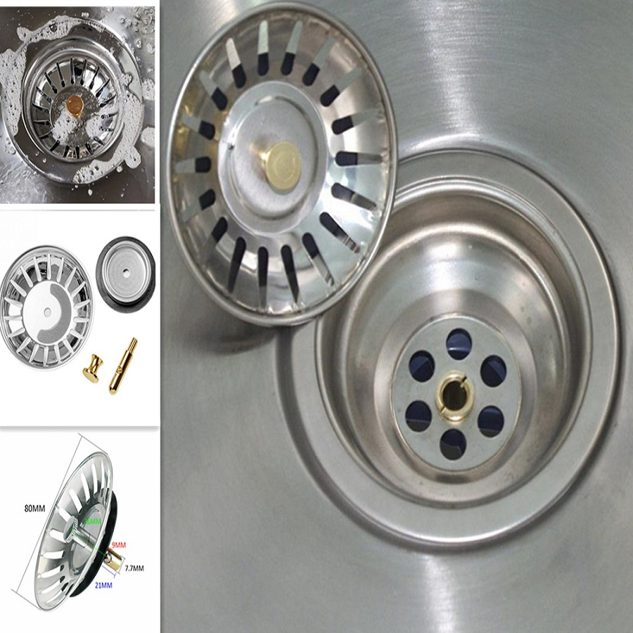 High Quality Stainless Steel Kitchen Sink Strainer Stopper Waste Plug Sink Filter Filtre Lavabo Bathroom Hair Catcher