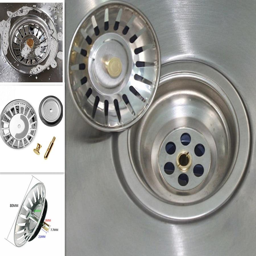 High Quality Stainless Steel Kitchen Sink Strainer Stopper Waste Plug Sink Filter Filtre Lavabo Bathroom Hair Catcher