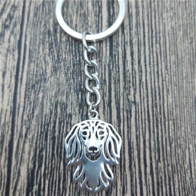 Nieuwe Langharige Teckel Sleutelhangers Mode Hond Sieraden Langharige Teckel Auto Sleutelhanger Tas Sleutelhanger Voor Vrouwen Mannen