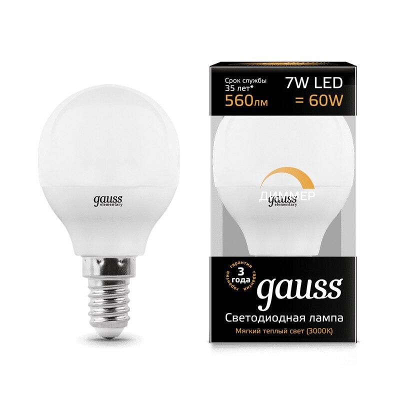 Lampe à LED ampoule boule diode dimmable E14 E27 G45 7 W 3000 K 4000 K lumière froide neutre chaude Gauss Lampada lampe ampoule globe - 2