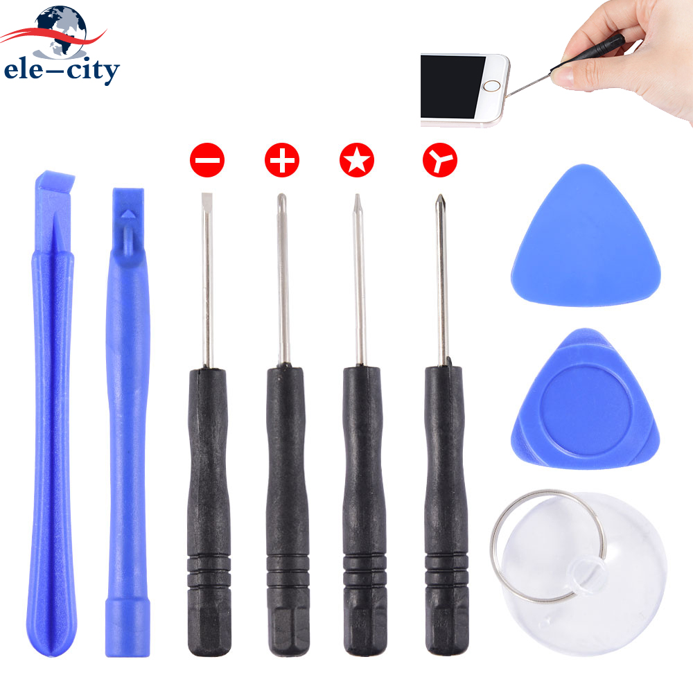 50pcs/set 9 in 1 Disassembling Cell Phones Opening Pry Mobile Phone Repair Tools Kit Phillips for phones Replacement For iphone