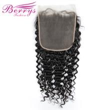 7x7 закрытие шнурка глубокая волна бразильские виргинские волосы свободная часть Pr epluncked закрытие необработанные человеческие волосы для наращивания