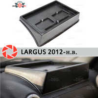 Organizador en la consola del panel frontal para Lada Largus 2012-2018 en relieve accesorios de estilo de coche de posición derecha Decoración