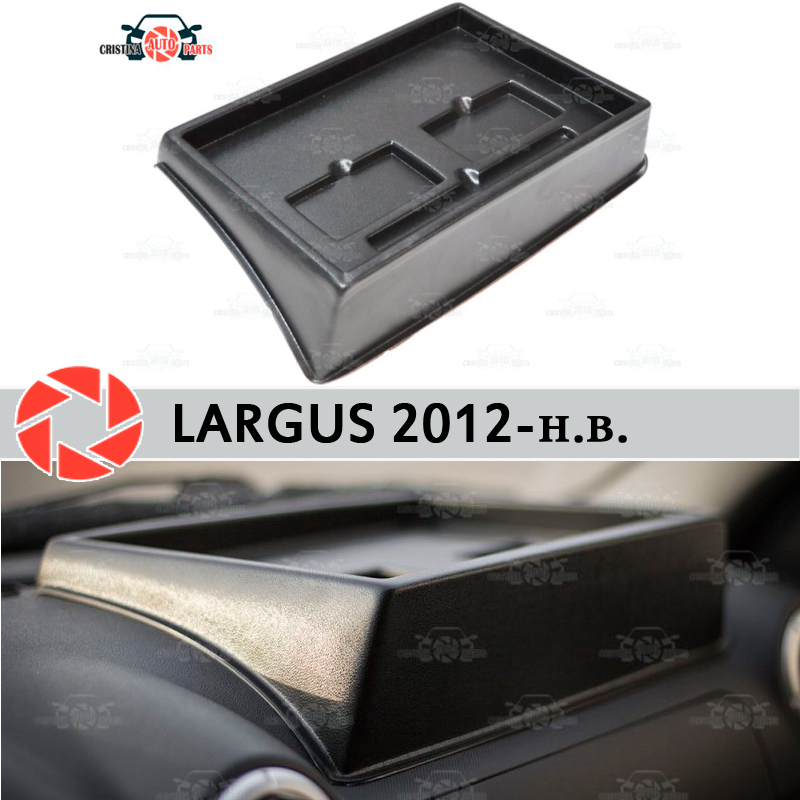 Organizer on front panel console for Lada Largus 2012 2018 embossed right position car styling accessories