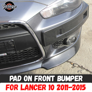 Pad on front bumper for Mitsub