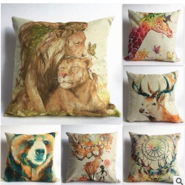 Animal cushion cover tiger for children Decorative Cushion Covers for Sofa Throw Pillow Car Chair Home Decor Pillow Case almofad