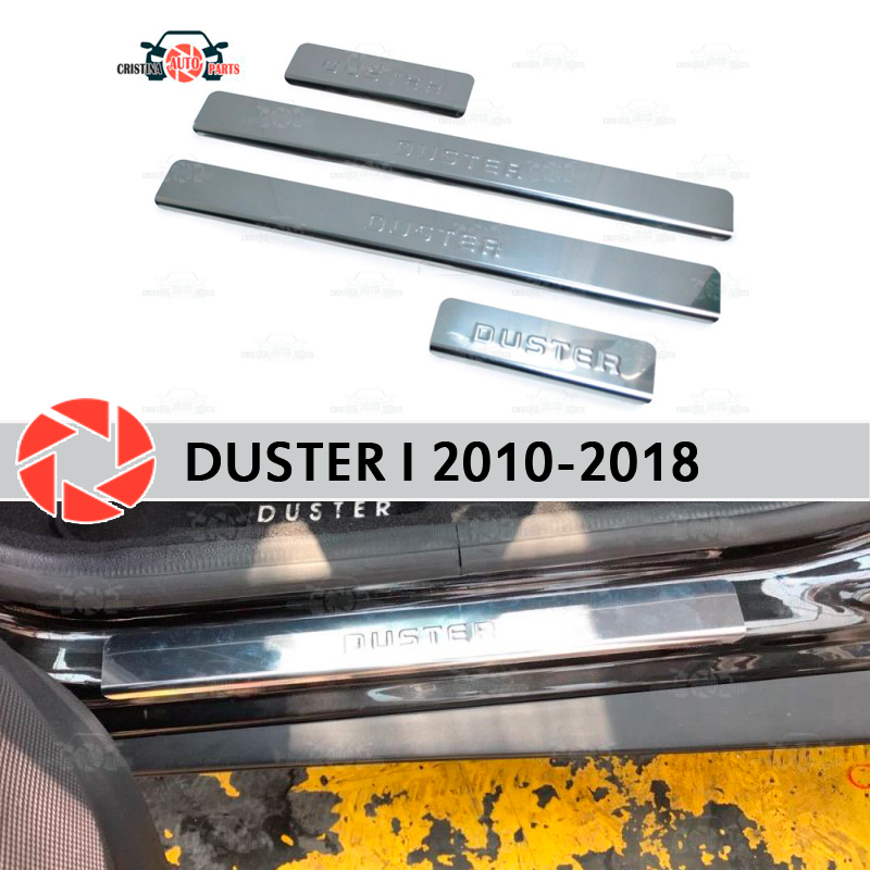 Door sills for Renault Duster 2010-2018 step plate inner trim accessories protection scuff car styling decoration stamp model cool custom made led door sill scuff plate guard protector trim for bmw m3