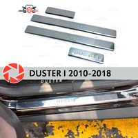 Door sills for Renault Duster 2010-2018 step plate inner trim accessories protection scuff car styling decoration stamp model