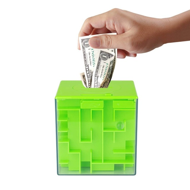 Primary Labyrinth Players 3D Maze Storage Tank Money Box Magic Cube Intelligence Toys for Children Kids and Adults Puzzle Gift 4