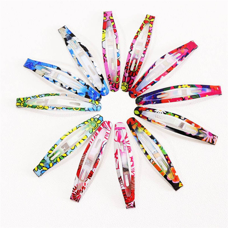 10/12 Pcs/set Colorful Painting Hairpins BB clips Metal Hair clips Simple Pins Leopard Hair Ornament Barrettes girls headdress new arrival ladies barrettes colorful dots cloth hair clips bb hairpin for girls women hair accessories 8pcs lot