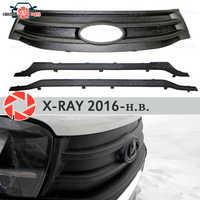 Radiador de cubierta de invierno para Lada x-ray 2016-plástico ABS en relieve parachoques delantero accesorios de estilo de coche Decoración